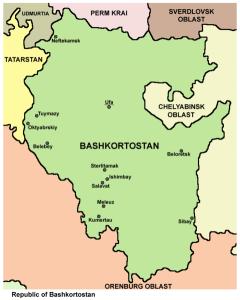 Bashkortostan karta