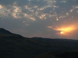 Ökenlandskap i Kaukasus