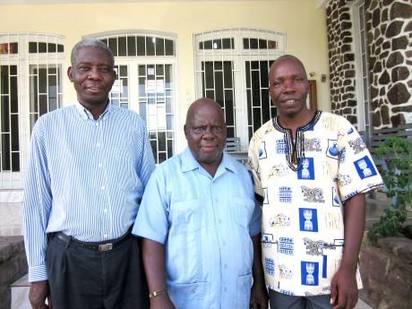 De anställda på kontoret i Kinshasa
