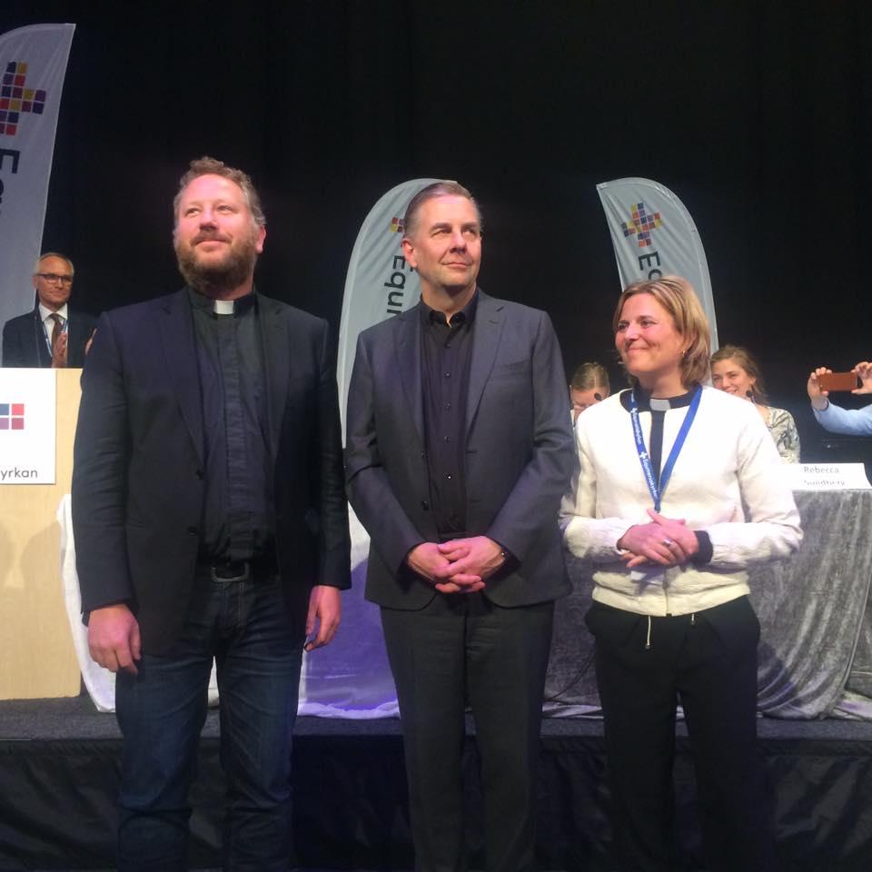 tre valda kyrkoledare