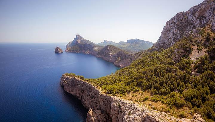 Utsikt över kusten i Spanien