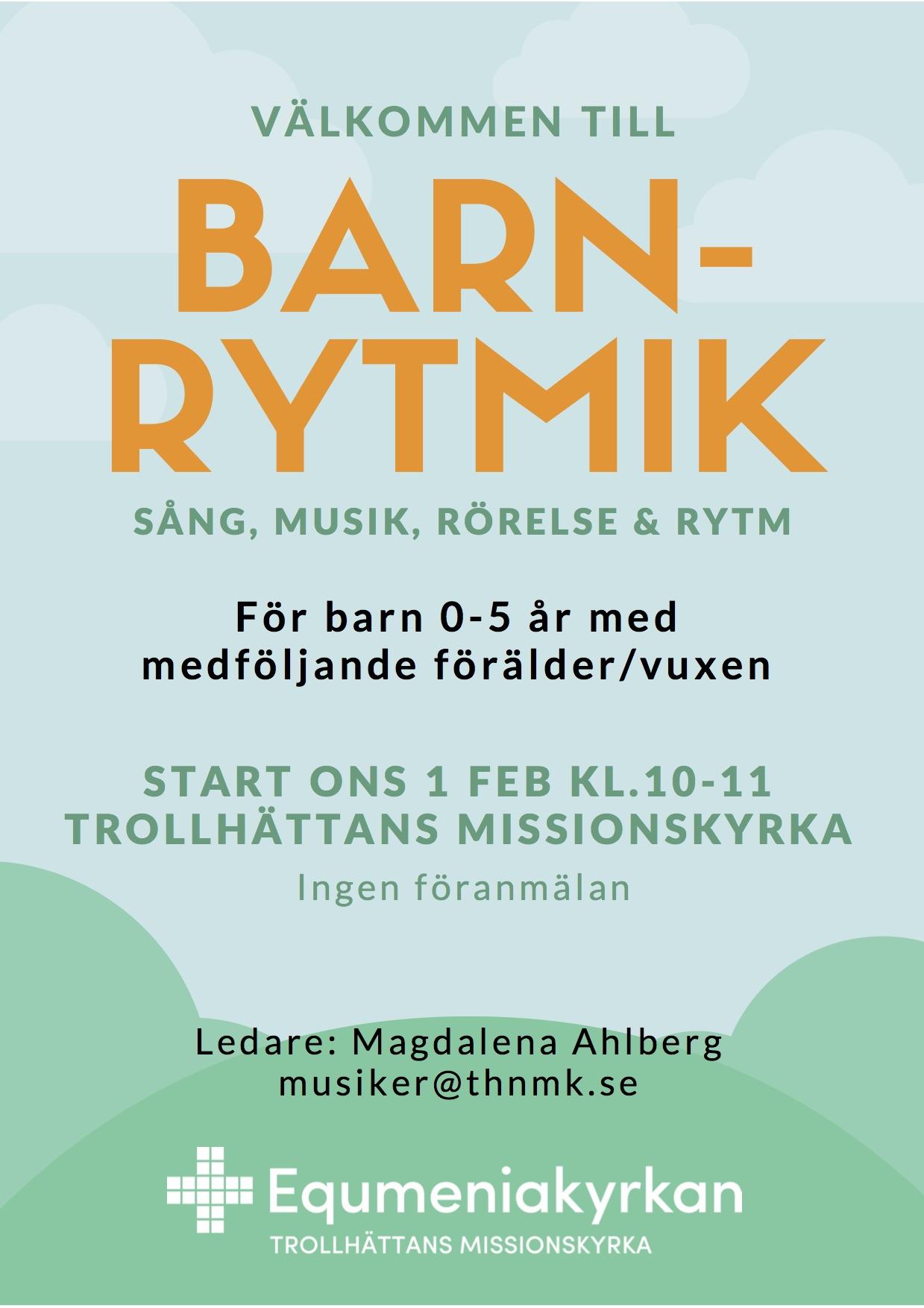 Välkommen till Barnrytmik - affisch